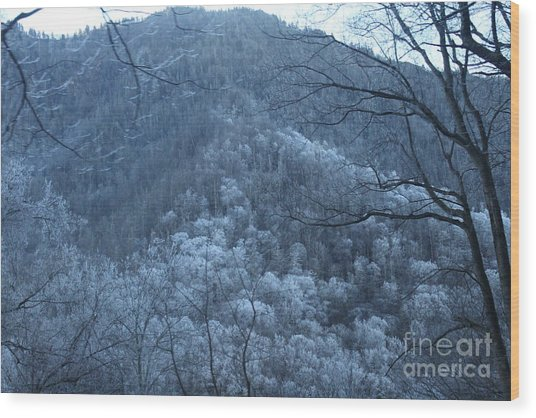 Blue Mountain Wood Print