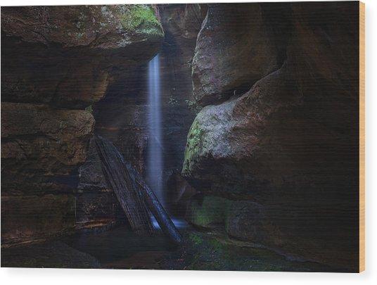 Blue Mountains Waterfall Wood Print by Yan Zhang
