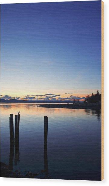 Blue Myrtle Wood Print
