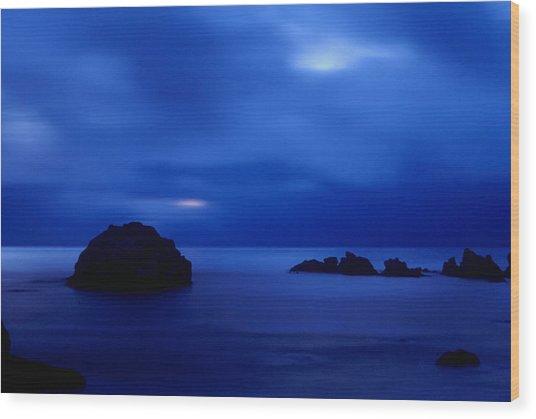 Blue Mystique Wood Print