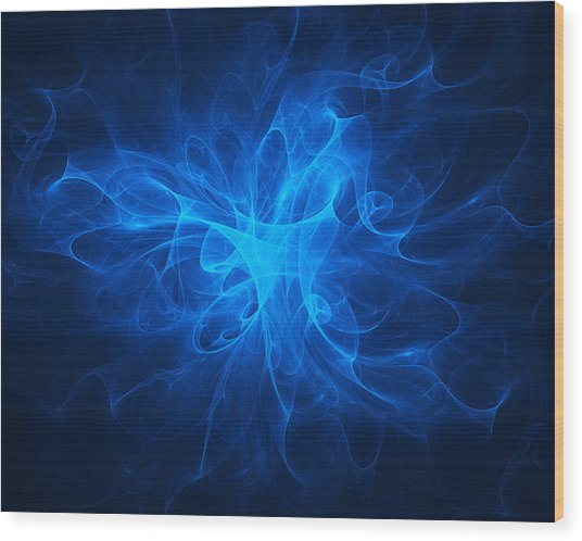 Blue Nebula Wood Print
