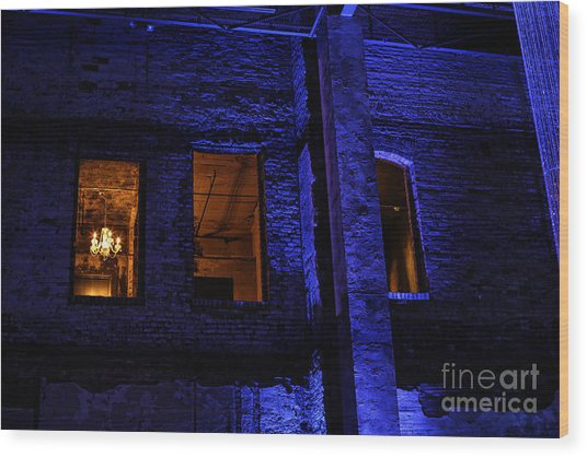 Blue Night Wood Print