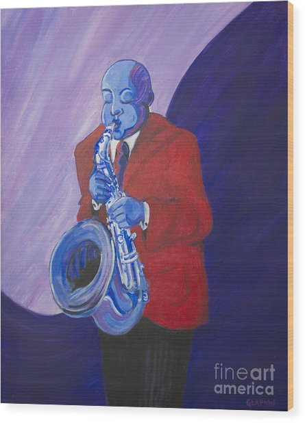 Blue Note Wood Print
