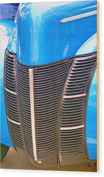 Blue Oldie Wood Print by Dieter  Lesche