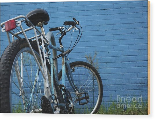 Blue On Blue Wood Print by Sherry Davis