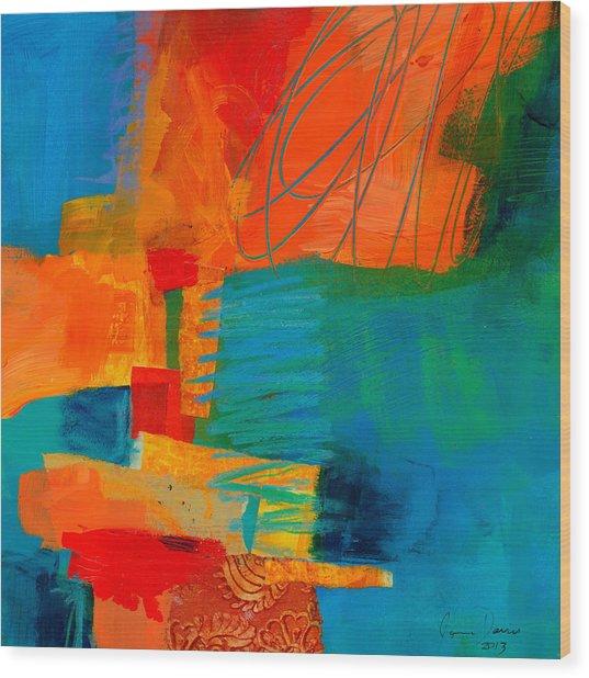 Blue Orange 2 Wood Print