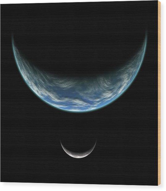 Blue Planet No.5 Wood Print
