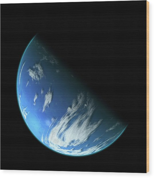 Blue Planet1 Wood Print