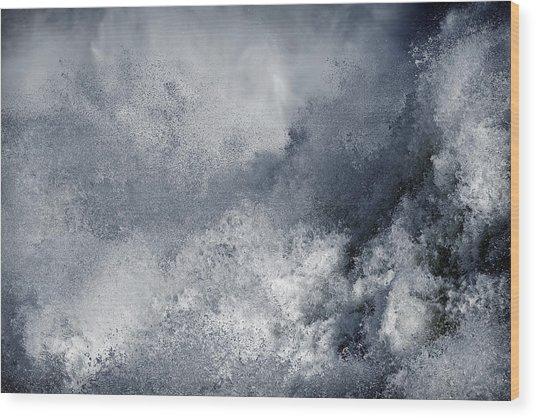 Blue Poseidon Wood Print