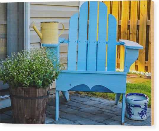 Blue Repose  Wood Print