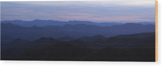 Blue Ridge Blues Wood Print