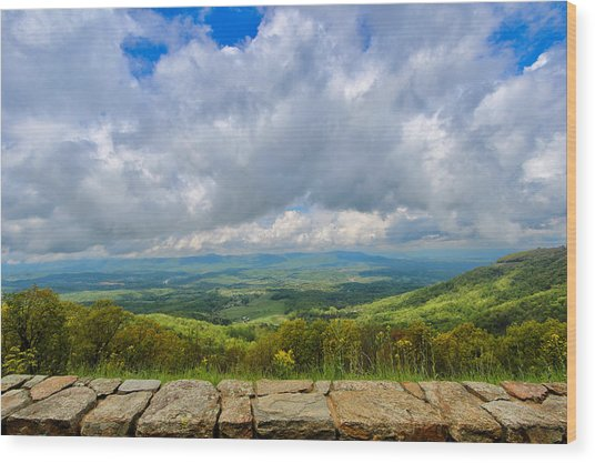 Blue Ridge Bounty Wood Print