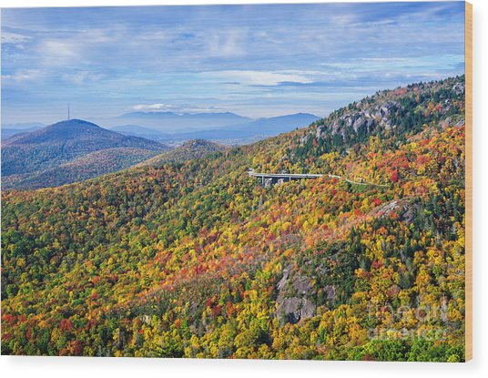 Blue Ridge Colors Wood Print