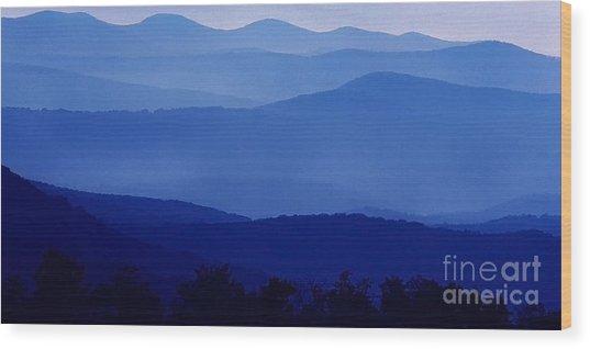 Blue Ridge Mountain Panoramic  Wood Print