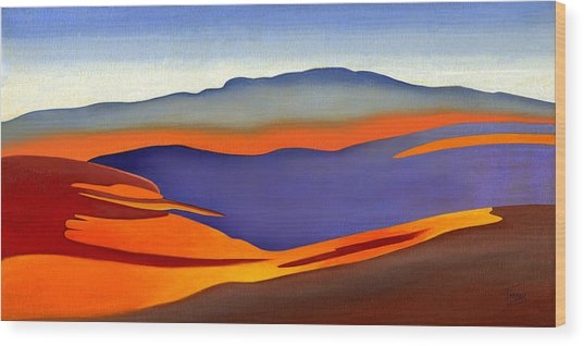 Blue Ridge Mountains East Fall Art Abstract Wood Print