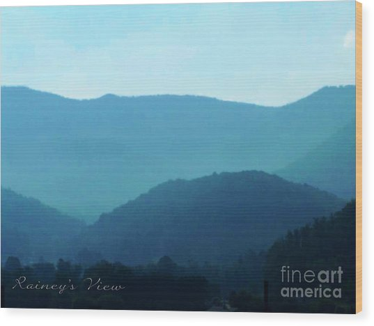 Blue Ridge Mountains Wood Print by Lorraine Heath