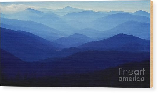 Blue Ridge Mountains Wood Print