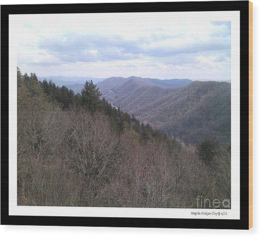Blue Ridge Parkway Horizon Wood Print