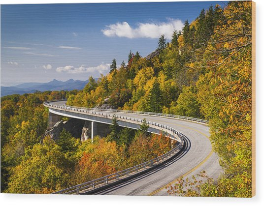 Blue Ridge Parkway Linn Cove Viaduct - North Carolina Wood Print