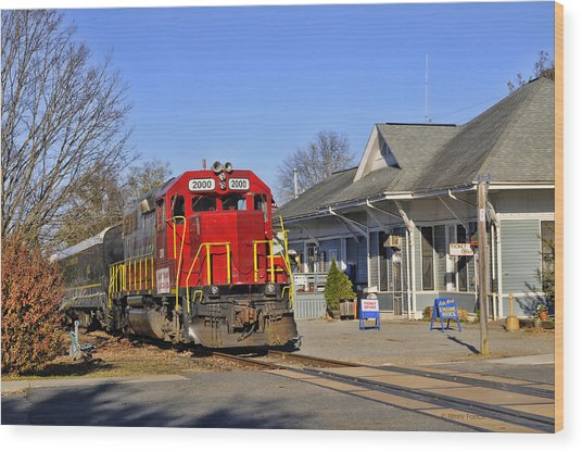 Blue Ridge Scenic Railway Wood Print
