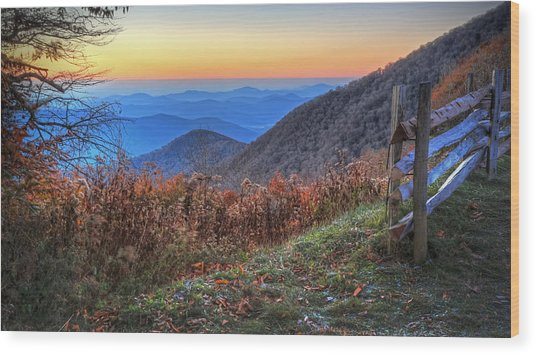 Blue Ridge Sunrise Wood Print