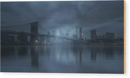 Blue River Wood Print