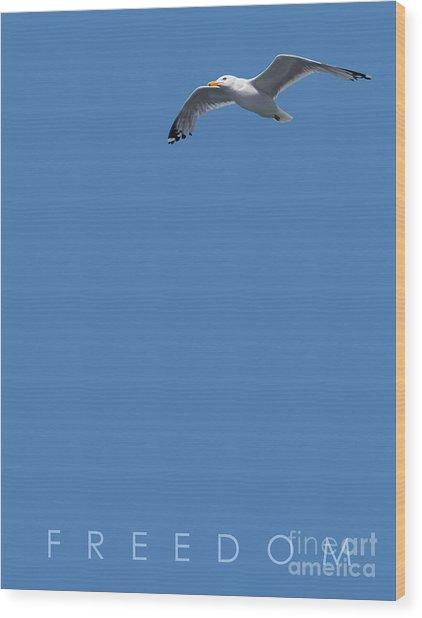 Blue Series 001 Freedom Wood Print
