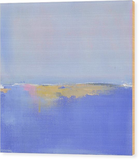 Blue Silences Wood Print