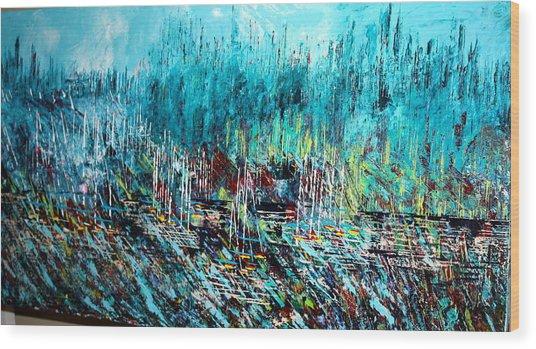Blue Skies Chicago - Sold Wood Print
