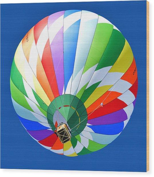 Blue Sky Balloon Wood Print by Stephen Richards