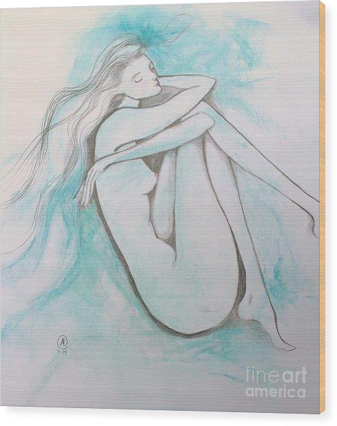 Blue Solitude Wood Print