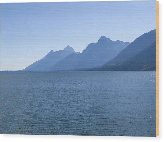 Blue Tetons Wood Print