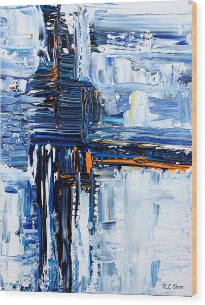 Blue Thunder Wood Print