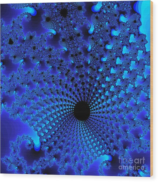 Blue Tunnel Wood Print by Gaby Tench