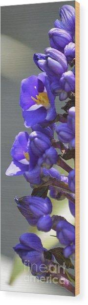 Blue Uprising Wood Print