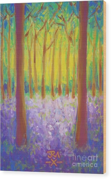 Bluebells Wood Print by Jedidiah Morley