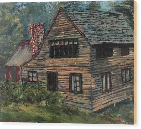 Blueberry Cottage At Twin Lake Village Wood Print