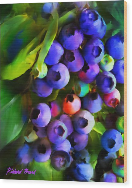 Blueberry Delight Wood Print