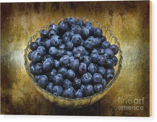 Blueberry Elegance Wood Print