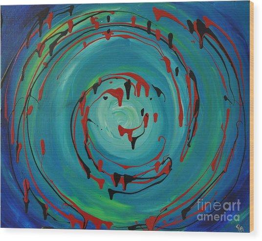 Blueberry Swirls Wood Print