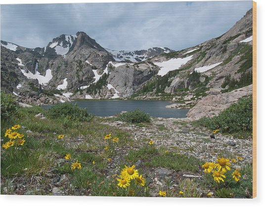 Bluebird Lake - Colorado Wood Print