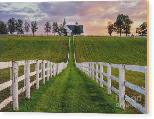 Bluegrass Farm Wood Print