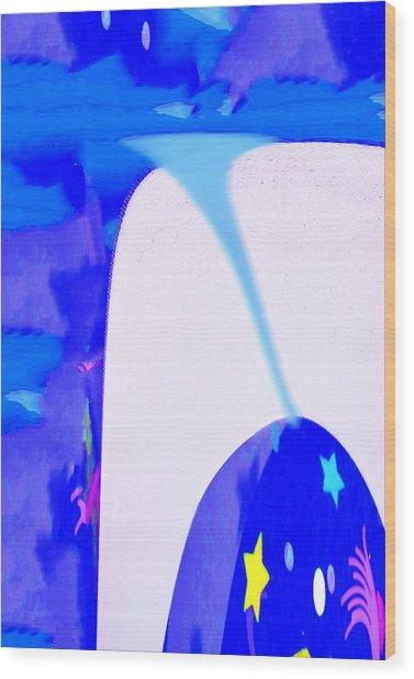 Bluenado Wood Print by Bruce Iorio