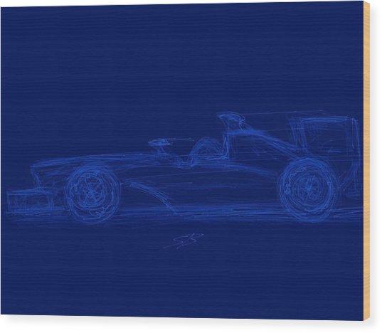 Blueprint For Speed Wood Print