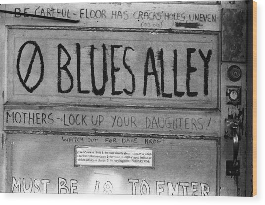 Blues Alley Wood Print