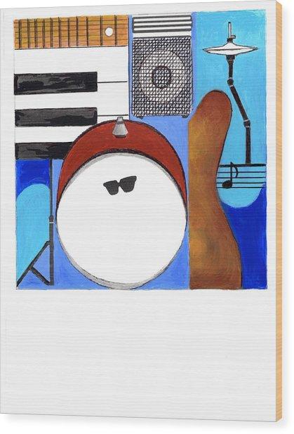 Blues Concept 1 Wood Print
