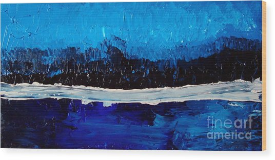 Blues Wood Print