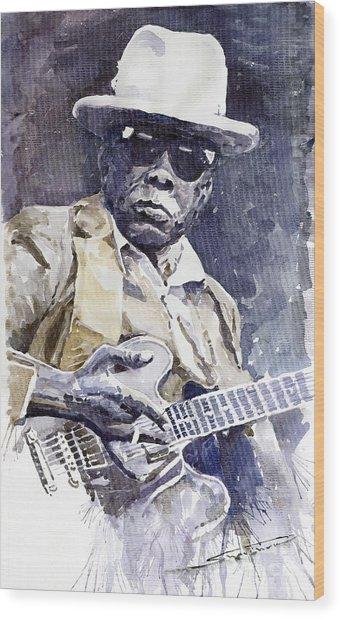 Bluesman John Lee Hooker 3 Wood Print