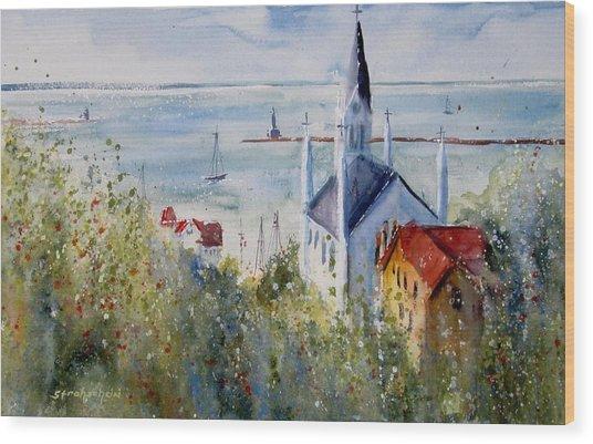 Bluff View St. Annes Mackinac Island Wood Print