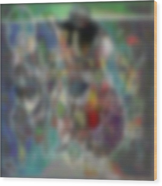 Blur #2 Wood Print by George Curington